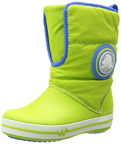 Crocs Croclights Gust Boot  15811 (Toddler/Little Kid),Volt Green/Varsity Blue,8 M US Toddler