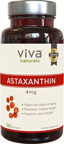 Viva Naturals Premium Astaxanthin 4mg 120 Softgels Discount