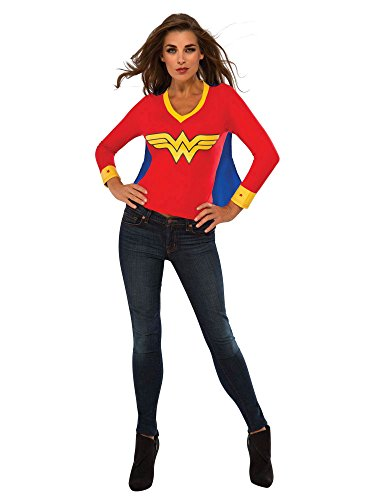 Rubie's Women's DC Superheroes Wonder Woman Sporty Tee, Multi, -