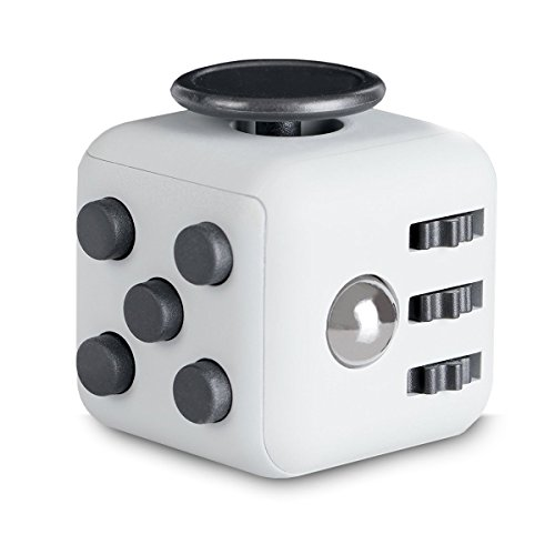 Spinners By IN Global Cube Edition White Fidget Cube