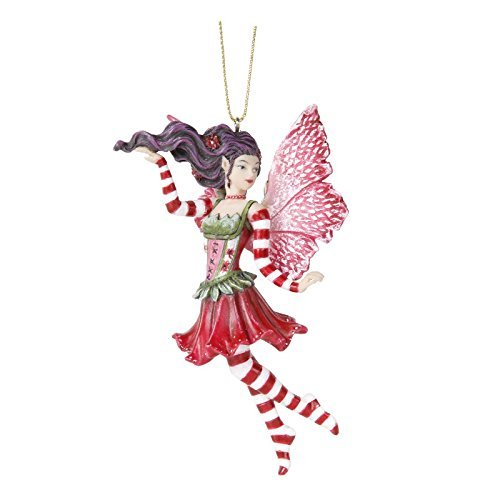Poinsettia Fairy Hanging Ornament Amy Brown Holiday Collection Christmas Tree Hanging Ornaments 4 (Poinsettia Ornament)