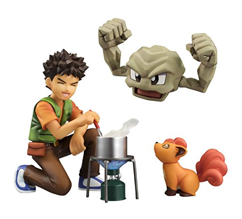 Megahouse Pokemon: Brock & Geodude & Vulpix GEM PVC Figure
