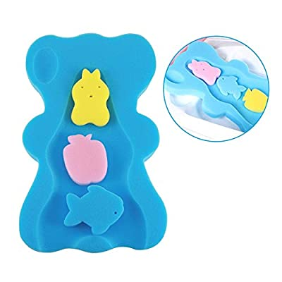 Soft Infant Baby Bath Sponge Cushion Anti Bacterial and Skid Proof Baby Bath Mat Newborn Odor Free