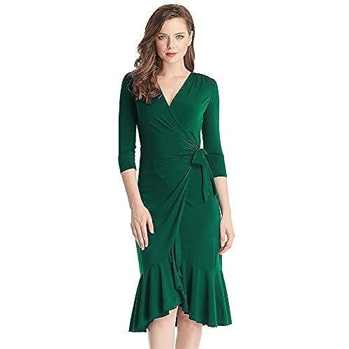 Green Wrap Dress Amazon