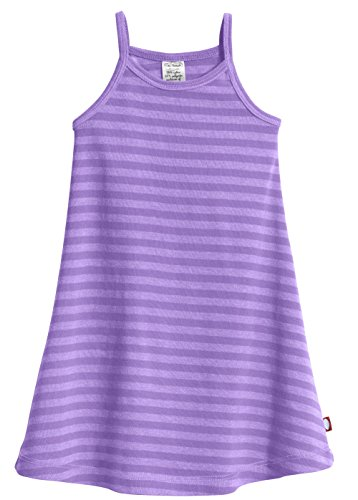 (City Threads Little Girls' Summer Dress Cami Camisole Spaghetti Strap Maxi Slip No Sleeve Dress For Sensitive Skin or SPD Sensory Friendly, Striped Deep Purple, 3T )