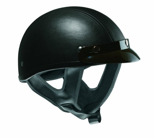 Vega XTS Leather Half Helmet (Half Cut Helmet)