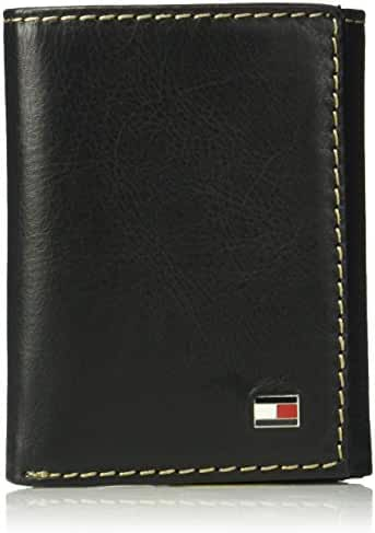 Tommy Hilfiger Men's RFID Blocking Leather Logan Extra Capacity Trifold Wallet