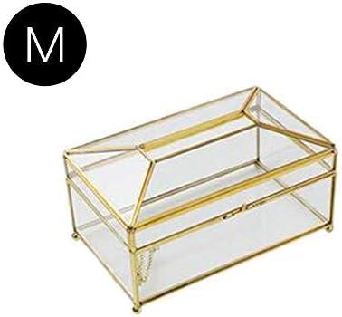 ティッシュケース おしゃれ ティッシュボックス 高級ティッシュカバー 透明 ティッシュボックス ガラス+真鍮製 北欧