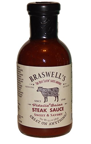 Vidalia Steak Sauce (Braswells Vidalia Onion Steak Sauce 13.5 Ounce)