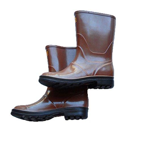 Stivali stivaletti tronchetti marroni pioggia antiscivolo lavoro antipioggia