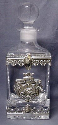 Crystal And Silver Decanter