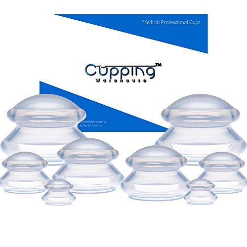 Supreme 8 -Online Video's: Massage Cupping Professional Medical Silicone Cupping Therapy Set : Cellulite, Arthritis, Muscle Spasm, Trigger Point, Pain Relief, Lymph. Cupping - Website Warehouse