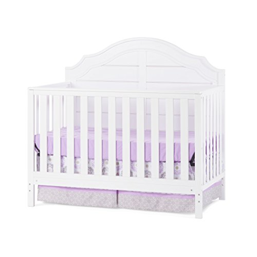 Child Craft Penelope 4-in-1 Convertible Crib, Matte White