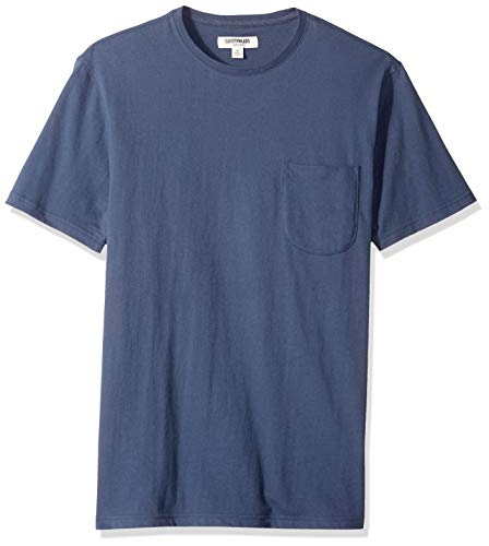 Amazon Brand - Goodthreads Men's Short-Sleeve Sueded Jersey Crewneck Pocket T-Shirt, Navy, XX-Large