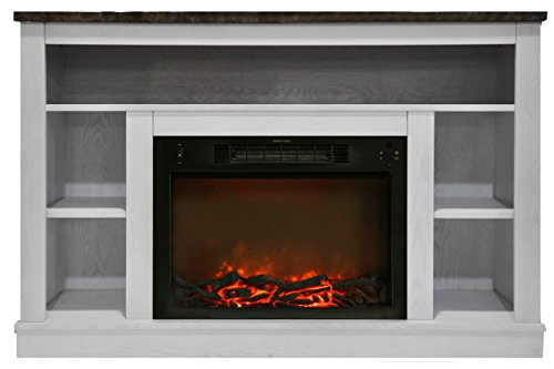 """Cambridge Seville Electric Fireplace for Most Flat-Panel TVs Up to 50"""" White CAM5021-1WHT"""