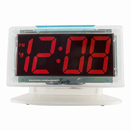 Equity by La Crosse 30040 Jumbo Clear 1.8 in. Red LED Electric Alarm Clock