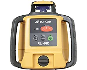 Topcon RL-H4C Horizontal Self-Leveling Rotary Laser w/LS-100D Laser Receiver & Rechargeable Battery 57176
