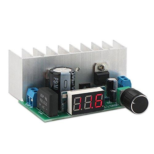 DROK Buck Voltage Converter Power Supply Module DC 0-35V AC 0-28V to DC 1.25-32V LED Voltage Regulator DC 24V to 12V Step Down Volt Transformer