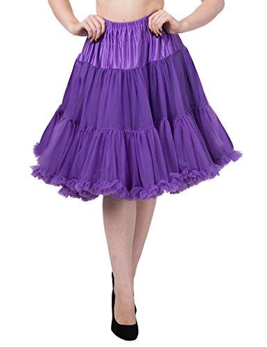 Petticoat lang zalm roze - Vintage Retro Rockabilly Morado morado X-Small