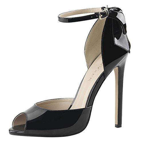 Sandaletten, Damen, Schwarz (schwarz) Schwarz (Schwarz)