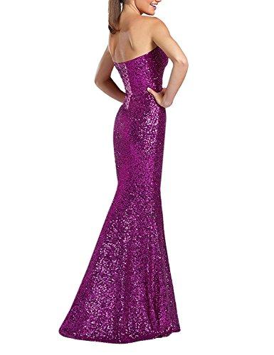 Gowns Mermaid Lavender Long Sequin Dresses Evening XingMeng Prom Bridesmaid Strapless 8BAvwqZ