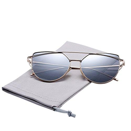 Pro Acme New Fashion Premium Cat Eye Sunglasses for Women (Gold Frame/Silver Mirrored - Sunglasses Christmas Sale