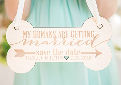 Engagement Pet Sign for Save the Date Wedding Photos - Save the Date Photography for Announcement for Dog, Wedding Pet Sign ()