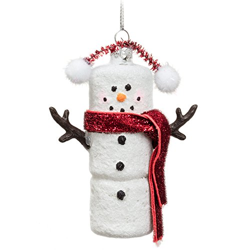 -Whimsy/Snow Marshmallow Snowman Ornament (Marshmallow Ornament)
