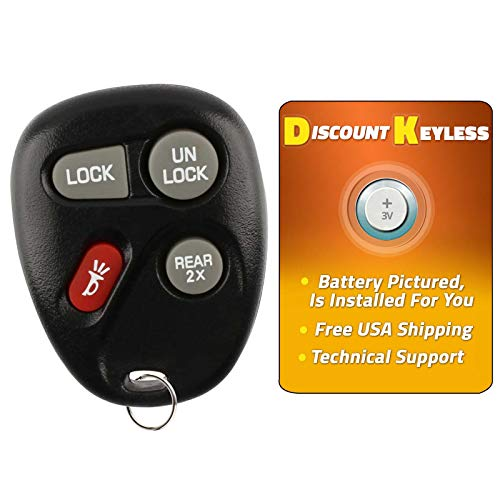 Discount Keyless Replacement Key Fob Car Remote Compatible with ABO1502T, 16245100-29, 16245100 ()