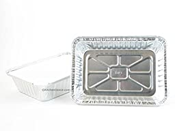 Disposable Aluminum 2 1/4 Lb. Oblong Pan with Board Lid #250L (50)