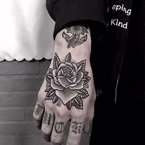 3pcs Tatuaje Impermeable Etiqueta engomada Flor de Luna ...