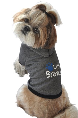 Ruff Ruff and Meow Dog Hoodie, Little Brother, Black, Extra-Small, My Pet Supplies