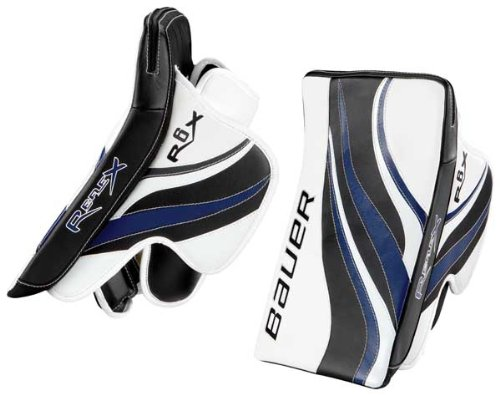 Bauer RX6 RE-FLEX Senior Goalie Blocker (32-897) (10) White/Black/Royal Blue