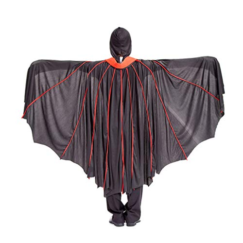 Grim Reaper Cloak Pattern (Amosfun Halloween Costume Cape Evil Witch Cloak Performance Grim Reaper Cape for Cosplay)
