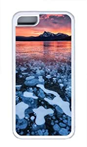 Bubble ice lake TPU Case Cover for iPhone 5C White