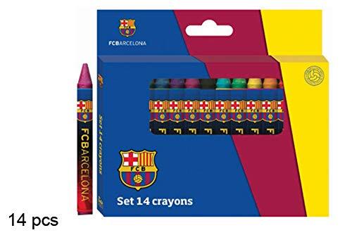 Casa y Menaje Set 14 Ceras de Colores FC Barcelona