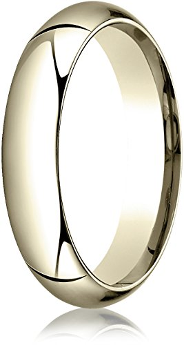 Benchmark 14K Yellow Gold 5mm High Dome Heavy Comfort-Fit Wedding Band Ring , Size 8.25 ()
