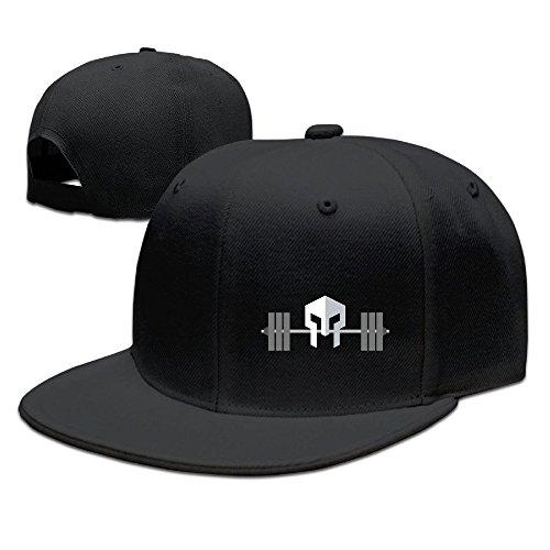 HAOHAO Warrior Fitness Adjustable Snapback Baseball Flat Caps - Short Hair Snapback