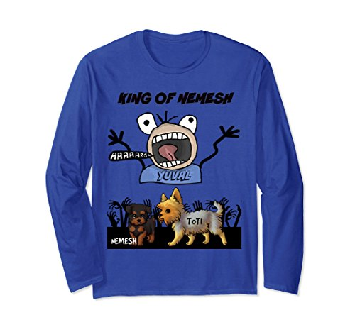 Unisex Funny and Scary Dog Lover T-shirt gift Small Royal Blue