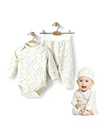 COBROO Newborn Baby Clothes Bodysuit Pants Set 3-6 Months Baby Girl Boy Body Cat Pattern Baby Sleepwear Green