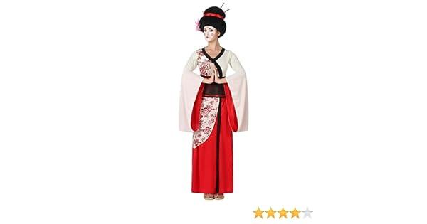 Atosa-15285 Disfraz Geisha, Color rojo, XL (15285