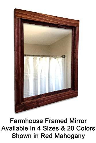 Farmhouse Mirrors/Large Wall Mirror/Bathroom Vanity Mirror/Framed Wood Mirror/Wall Mirrors for Living Room/Wall -