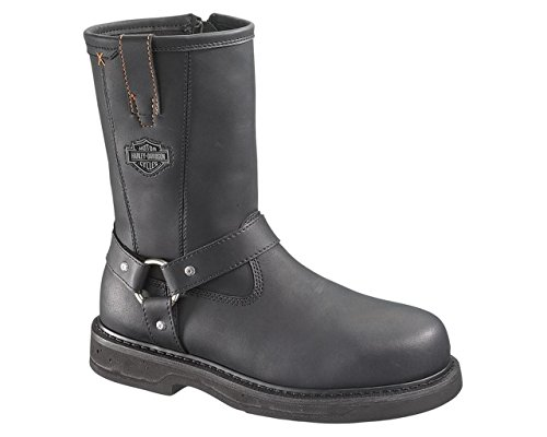 Harley-Davidson Men's Bill Steel Toe Harness Motorcycle Boot, Black, 12 M US