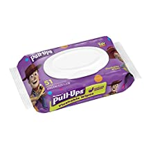 Pull Ups Flushable Moist Wipes Pouch, 51-Count