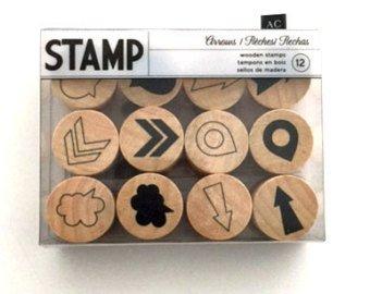Round Mini Wood Stamp Set -Arrows #375077 (Stamp Arrow)