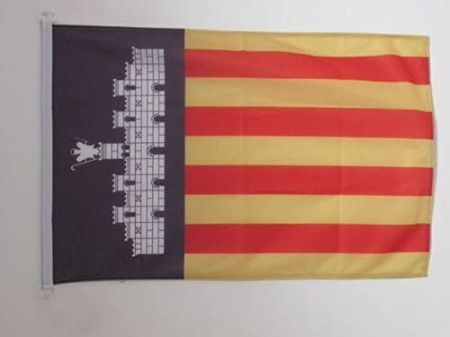 AZ FLAG Bandera Nautica de Mallorca 45x30cm - Pabellón de conveniencia MALLORQUINA 30 x 45 cm Anillos: Amazon.es: Hogar