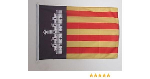 AZ FLAG Bandera de Mallorca 90x60cm Uso Exterior - Bandera MALLORQUINA 60 x 90 cm Anillos: Amazon.es: Hogar
