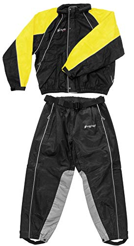 (Frogg Toggs Hogg Togg Men's Street Motorcycle Rainsuit - Black/Yellow/X-Large)
