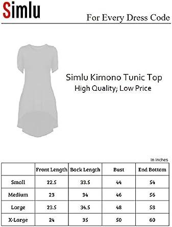 Printed Loose Fit Kimono Tunic Top Womens Sleeveless High /& Low Solid USA