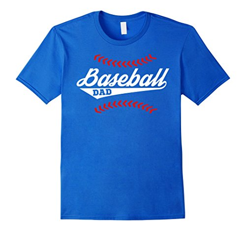 Mens Baseball Dad T Shirt Amazing Father's Day Gift  XL Royal Blue